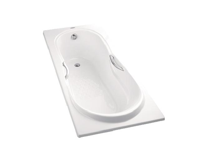 Bồn tắm nhựa có tay vịn