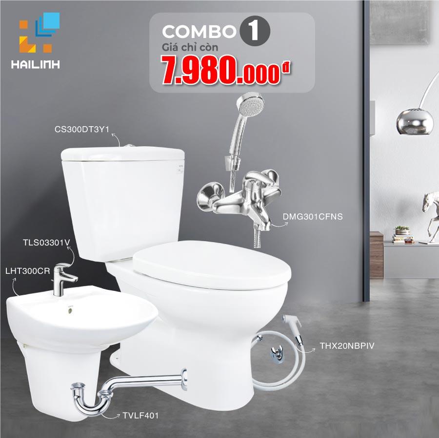 Combo 1: thiết bị vệ sinh TOTO