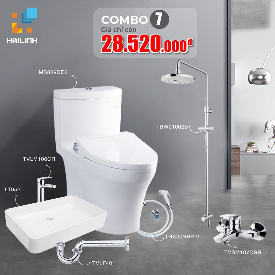 Combo 7: thiết bị vệ sinh TOTO