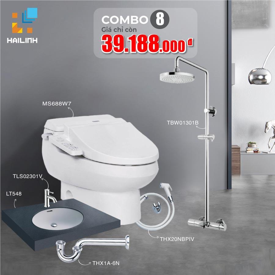 Combo 8: thiết bị vệ sinh TOTO