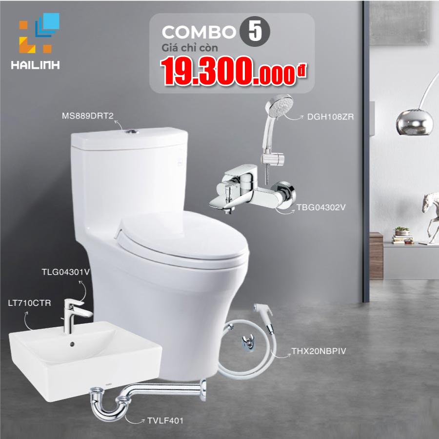 Combo 5: thiết bị vệ sinh TOTO