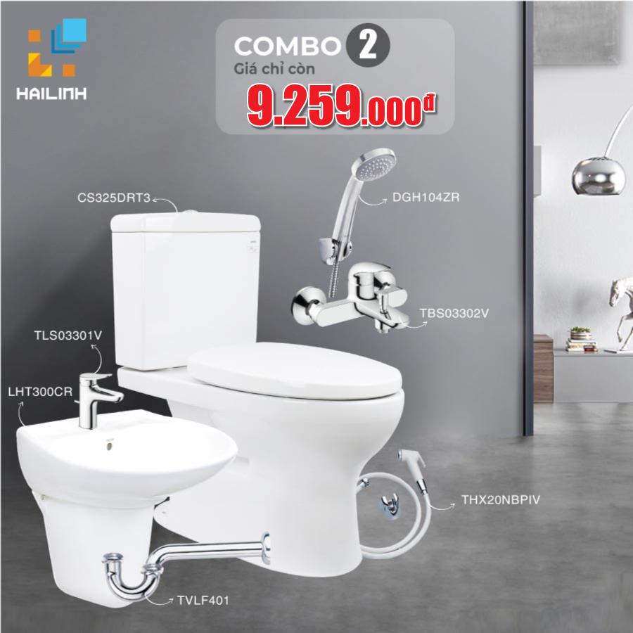 Combo 2: thiết bị vệ sinh TOTO