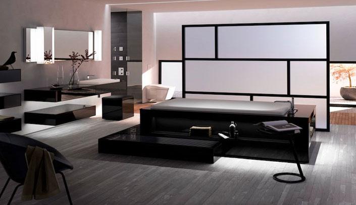 không gian sống sang trọng với chậu rửa đặt âm bàn